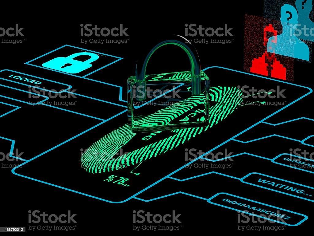 Fingerprint Security stock photo