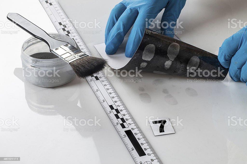 Fingerabdruck-Technologie arbeitet mit forensische Beweise – Foto