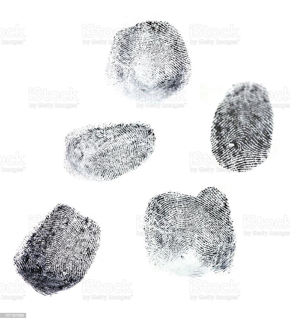Fingerprints royalty-free stock photo