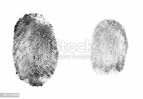 isolated fingerprints
