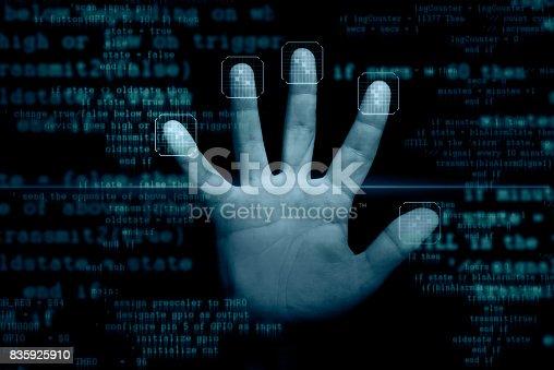 istock Fingerprints scanner 835925910