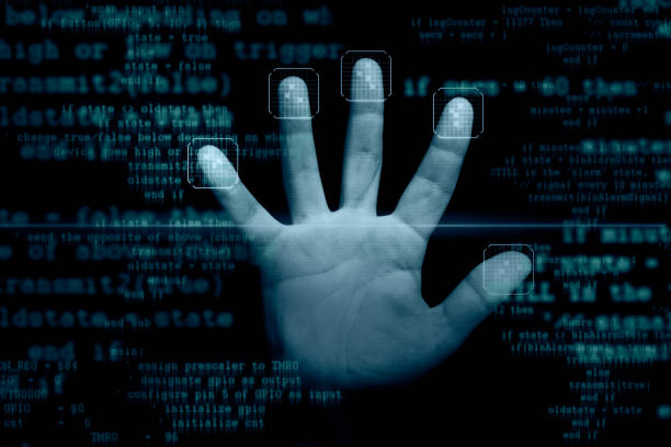 Fingerprints scanner stock photo
