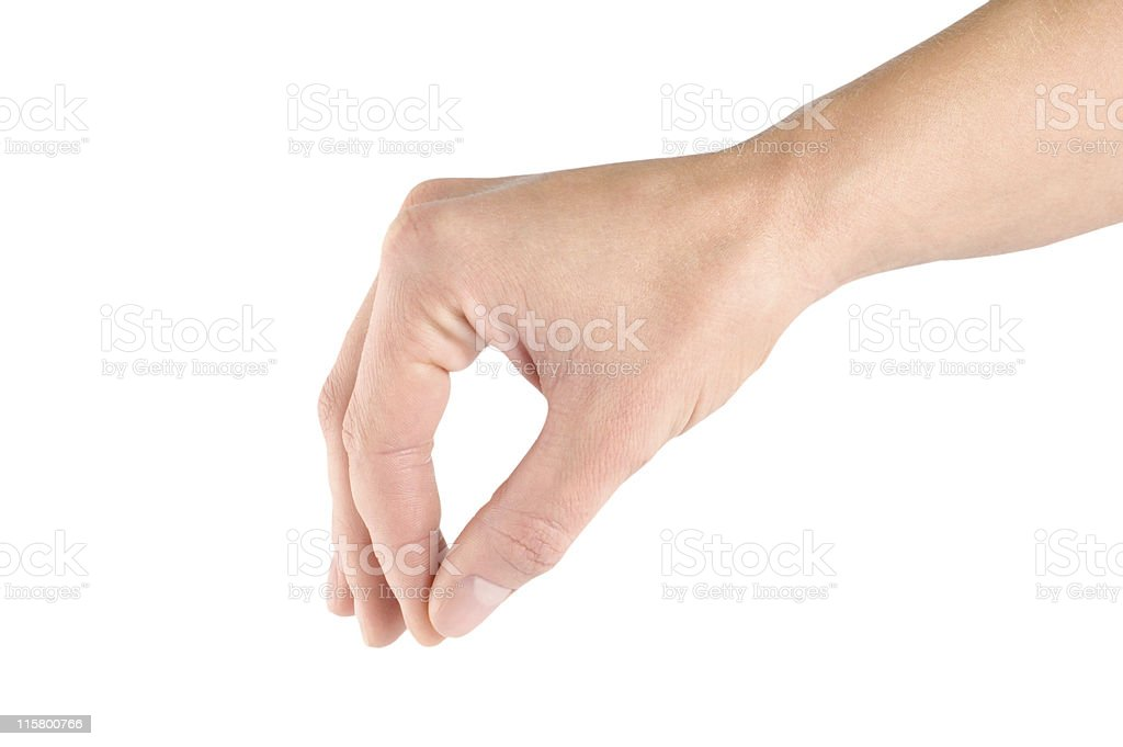 Fingers holding stock photo