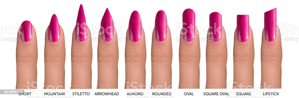 10 Fingers With Different Nail Shapes Stock Photo & More Pictures of ...