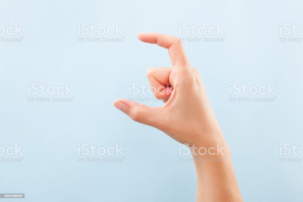Alfabeto de BSL Fingerspelling. - foto de stock