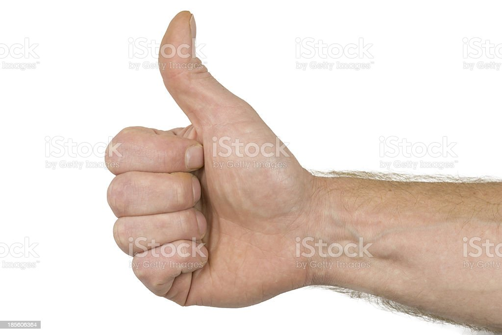 Fingerzeichen gut 2 royalty-free stock photo