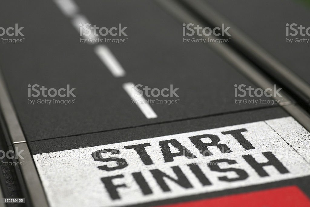 Finish first stock photo