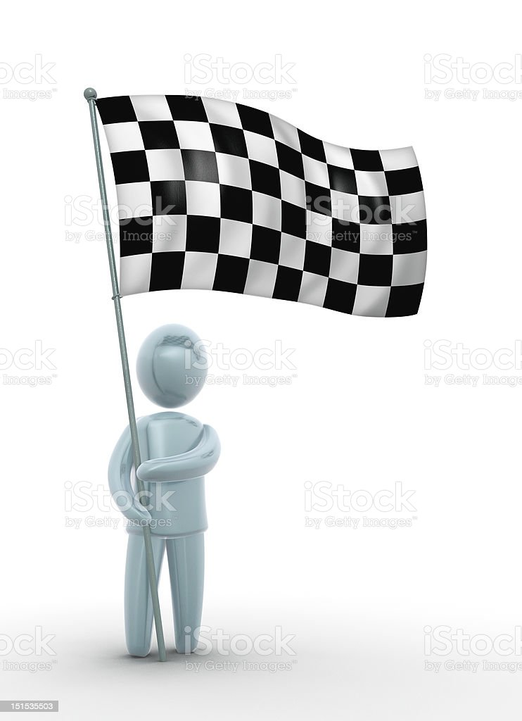 Finish flag stock photo