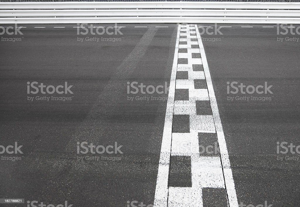 Finish Line of a motor race sports track road royalty-free stock photo