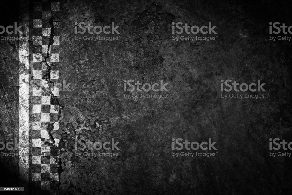 Finish line of racing road vintage background. stock photo