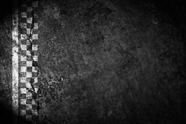 Terminer la ligne de fond vintage route de course. - Photo