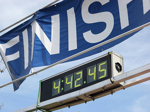 finish line - timer stock photos and pictures