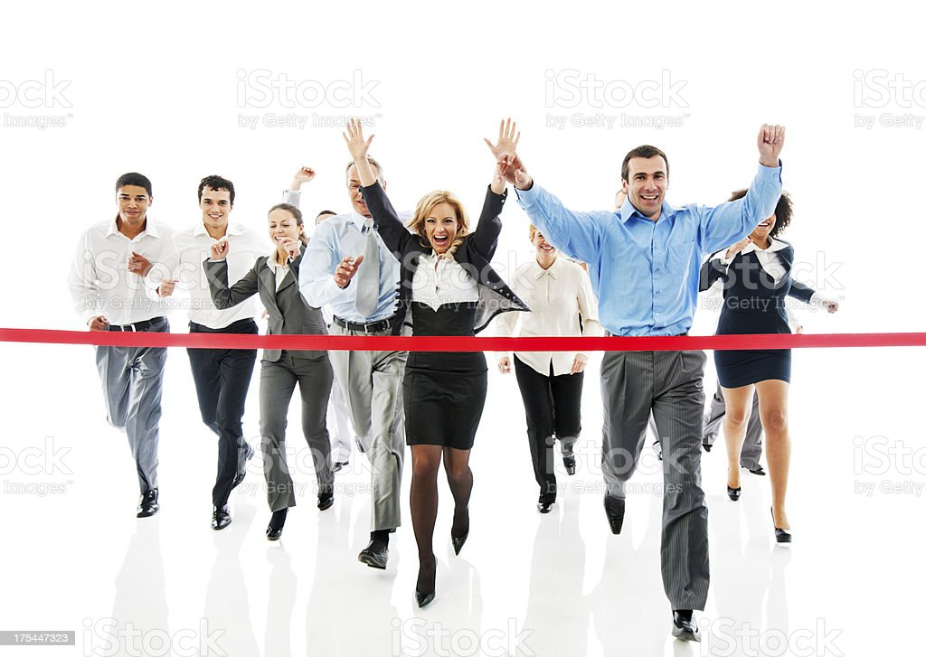 Finish line. royalty-free stock photo
