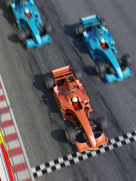 finish line - autosport stock-fotos und bilder
