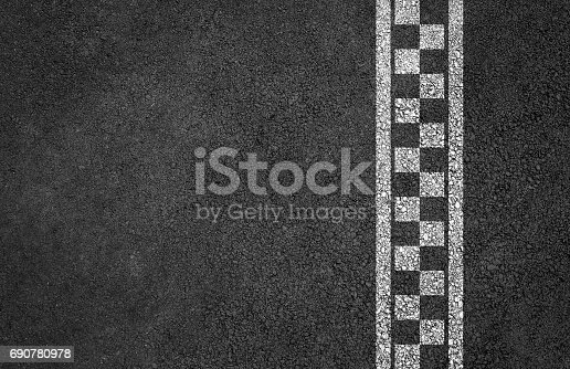 istock Finish line racing background 690780978