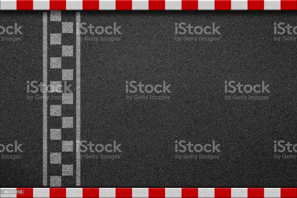 Mållinjen racing bakgrund ovanifrån bildbanksfoto