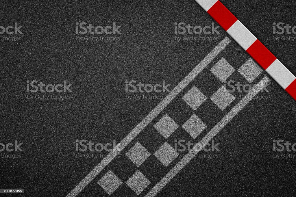 Finish line racing background top view stock photo