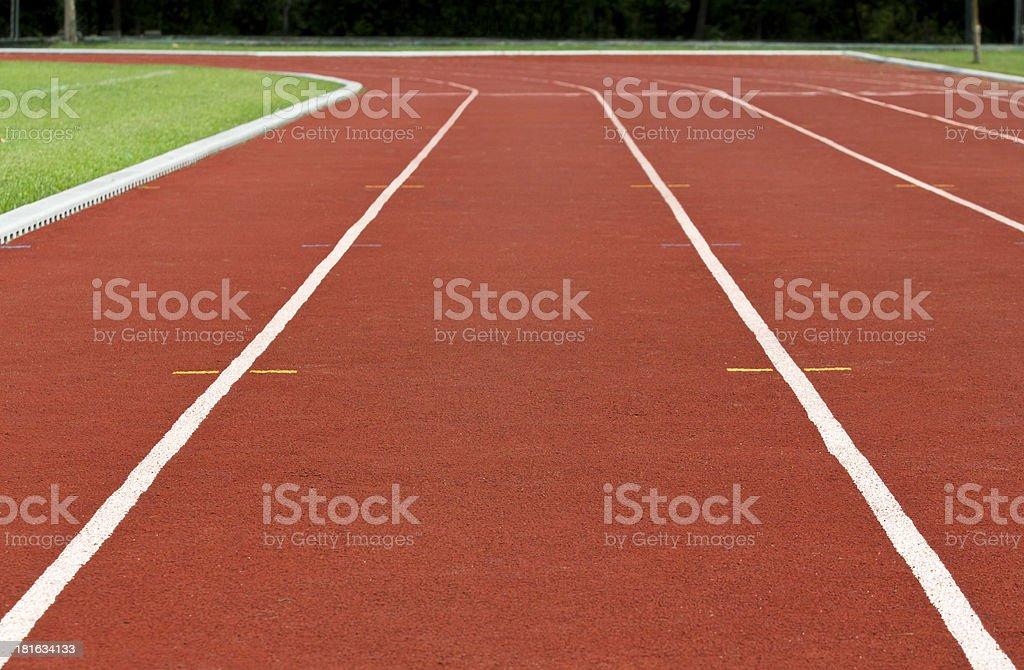 Finish line Running track royalty-free stock photo