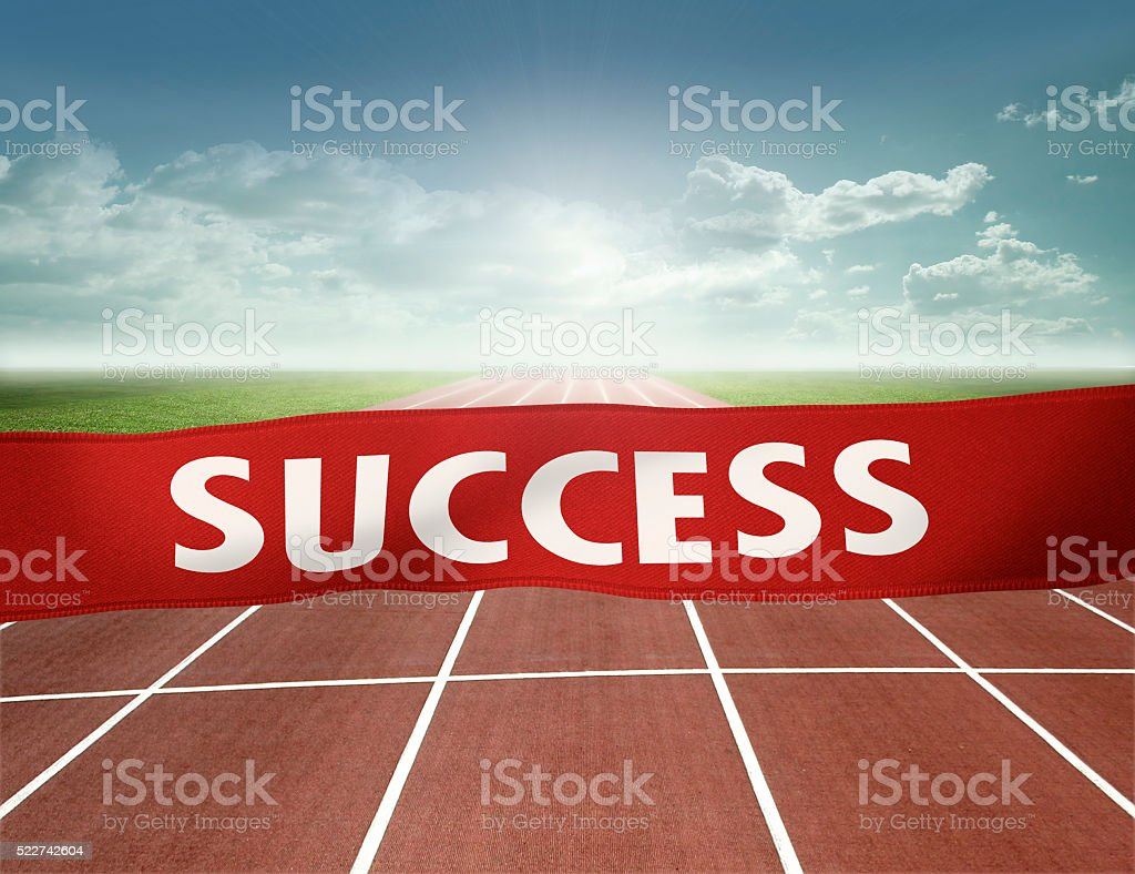 finish line to success stock photo