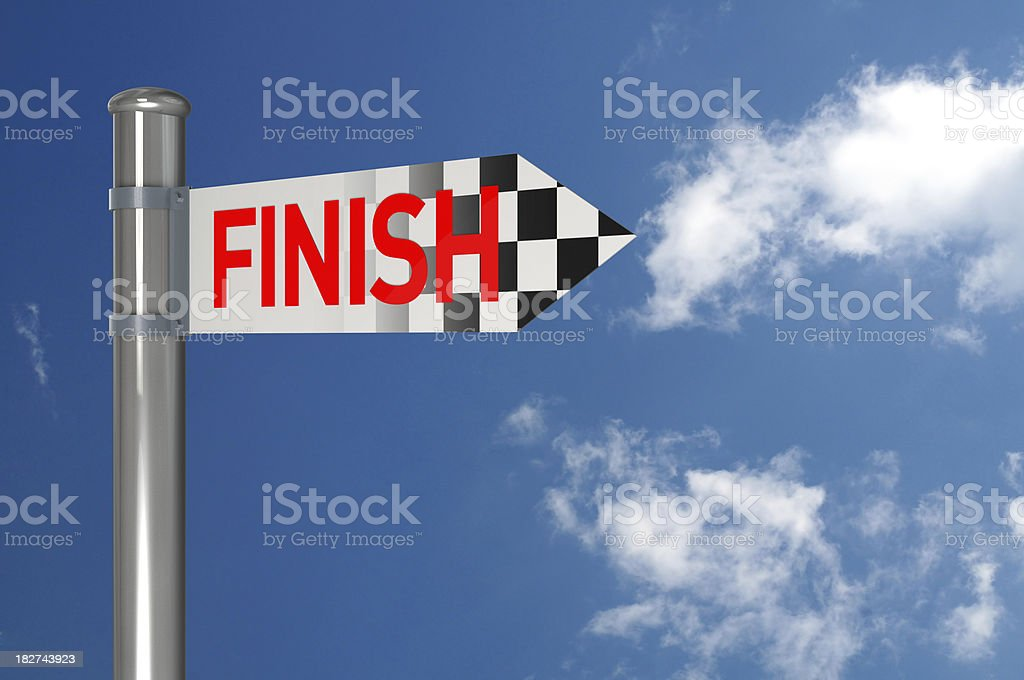 Finish Sign royalty-free stock photo