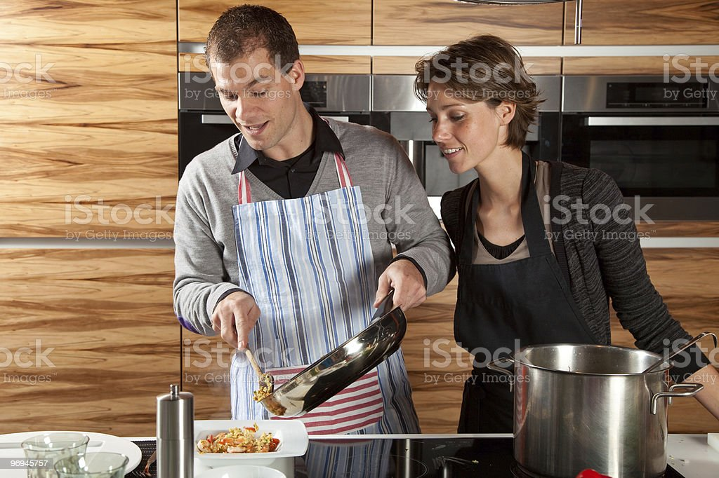 Finished cooking royalty-free stock photo