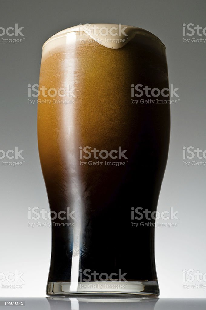 Finished Irish Stout stock photo