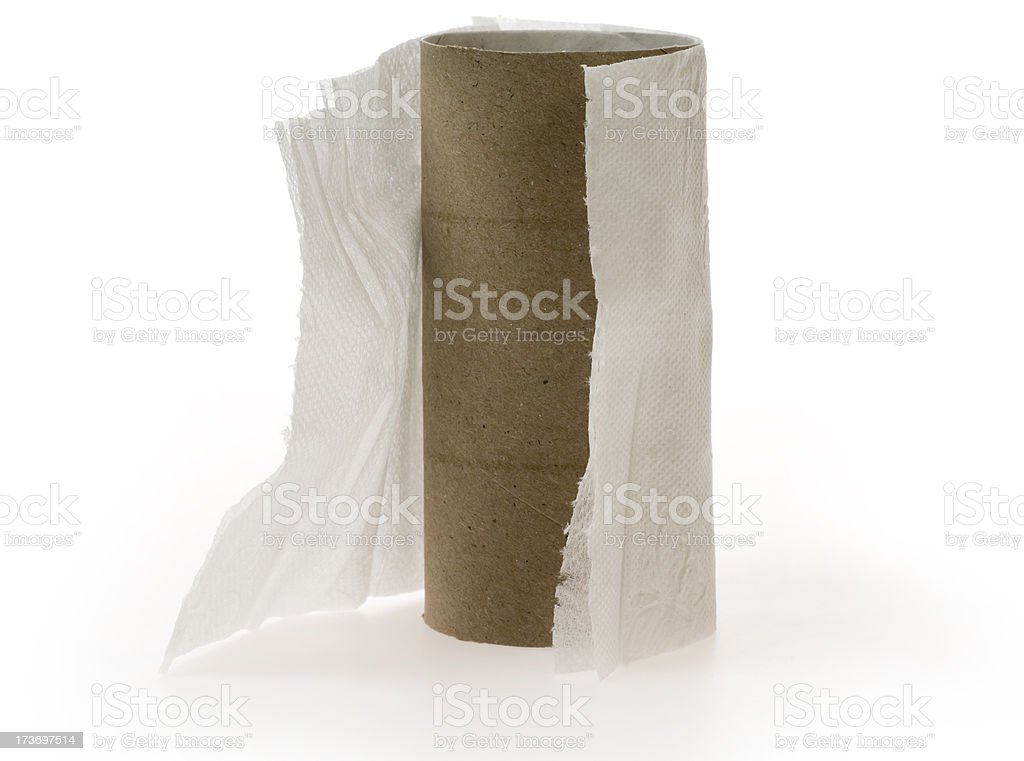 Finished toilet paper stock photo