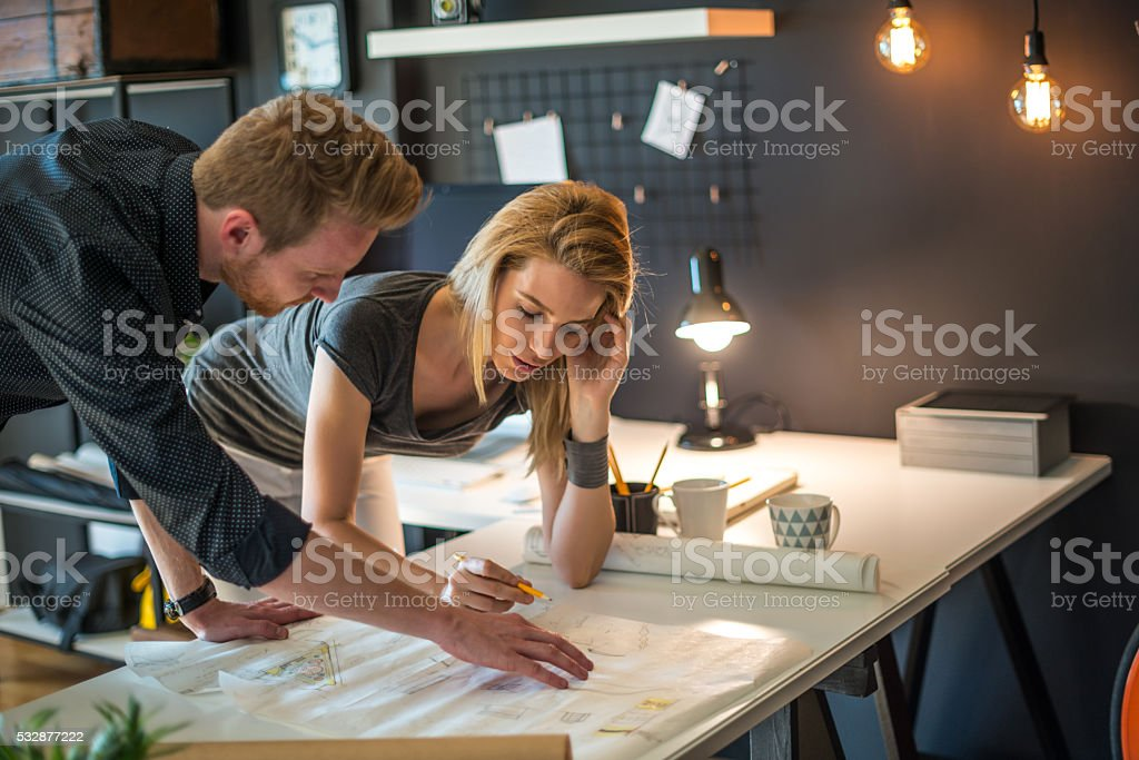 Finishing design project stock photo