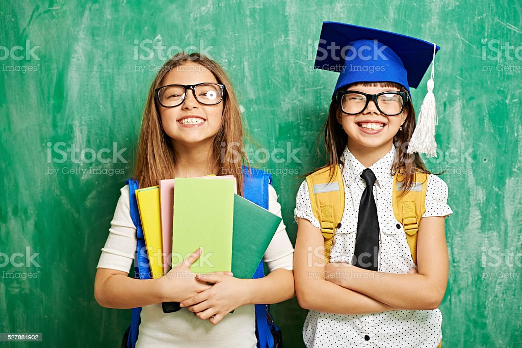 Finishing elementary school stock photo