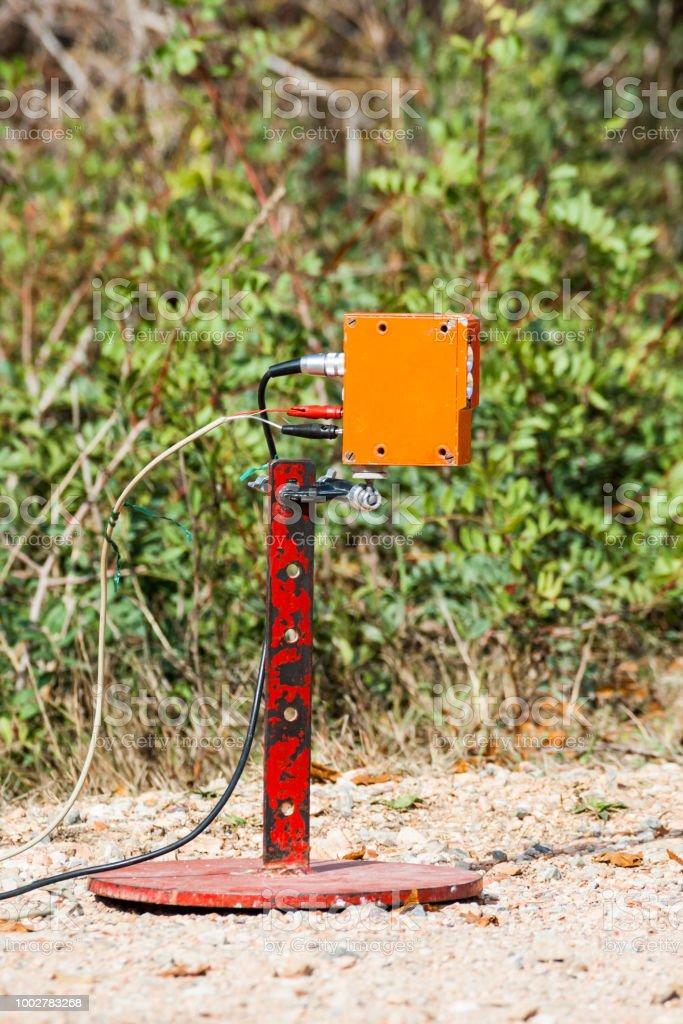 finition des détecteurs électroniques de ligne dans une compétition de rallye - Photo