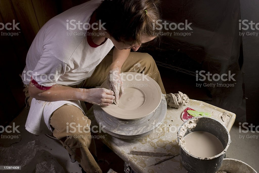 Finishing the Platter royalty-free stock photo