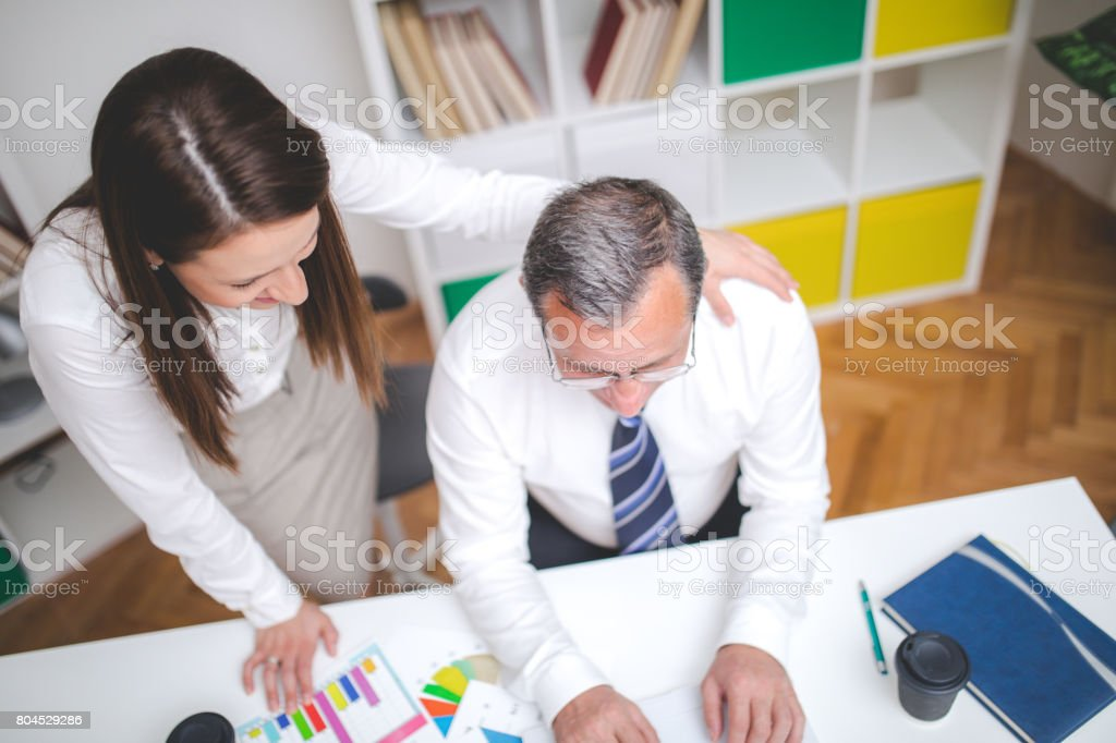 Finishing todays work stock photo