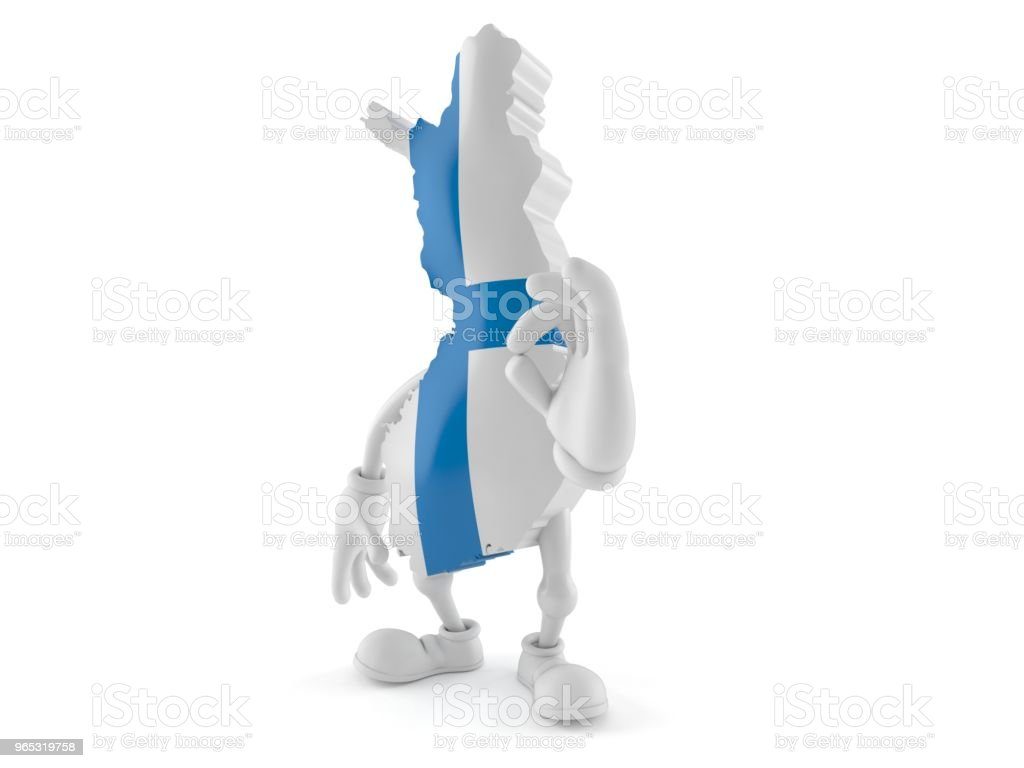 Finland character with ok gesture royalty-free stock photo