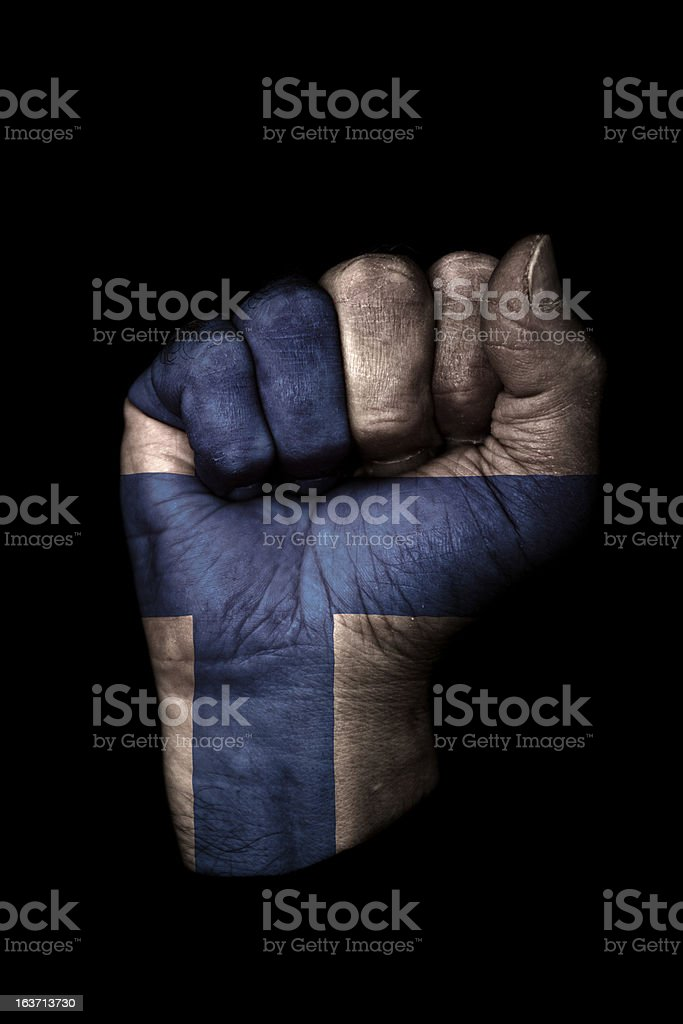 Finland Flag Fist royalty-free stock photo