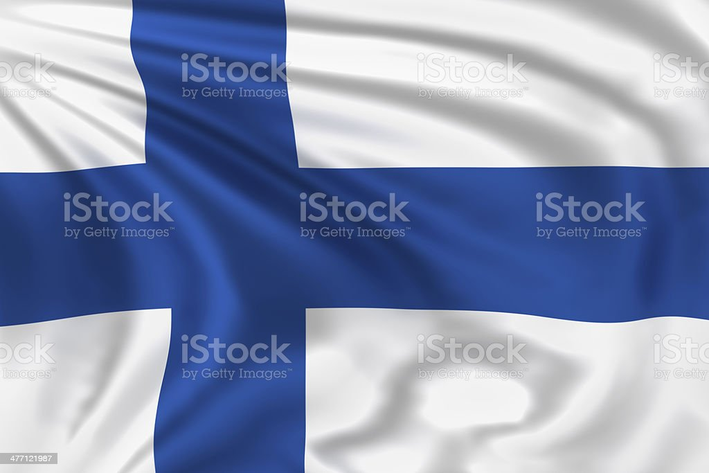 Finland Flag stock photo