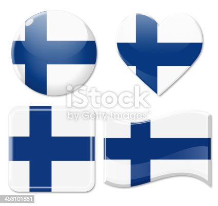istock Finland Flags & Icon Set 453101881