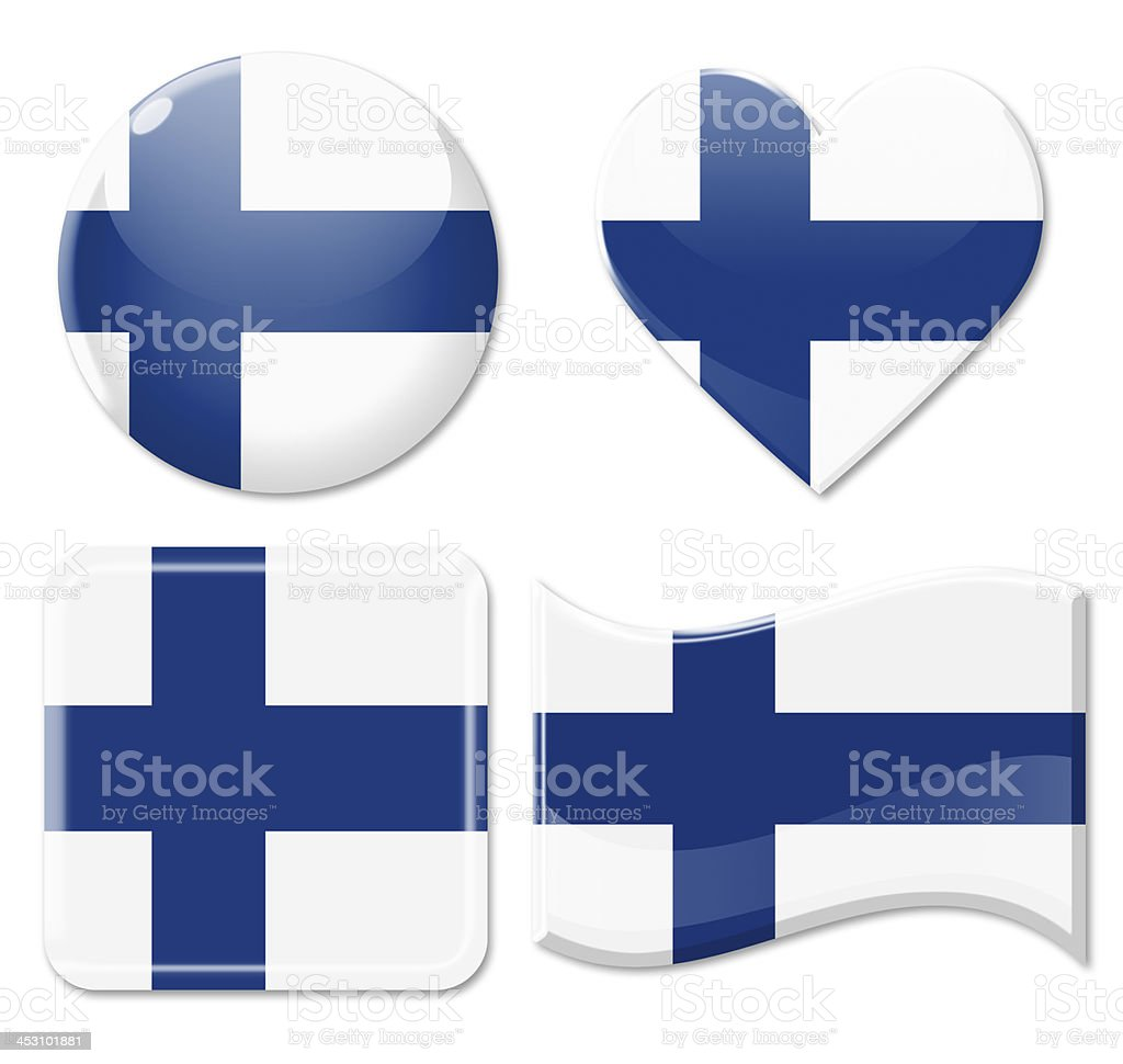 Finland Flags & Icon Set stock photo