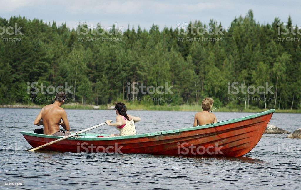Finland lake fishing royalty-free stock photo