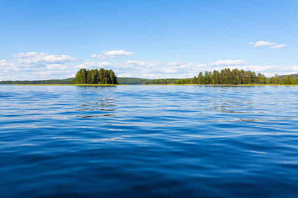 finland lake scape at summer - lakeshore stock photos and pictures