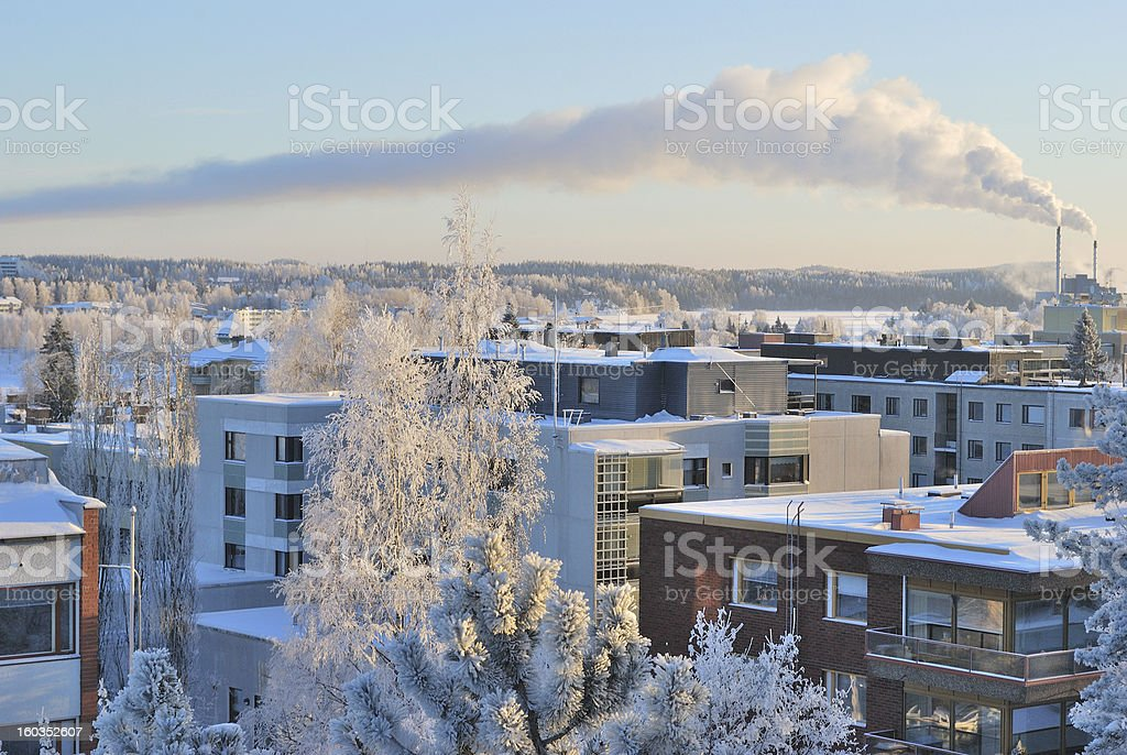 Finland. Mikkeli  in the  evening royalty-free stock photo