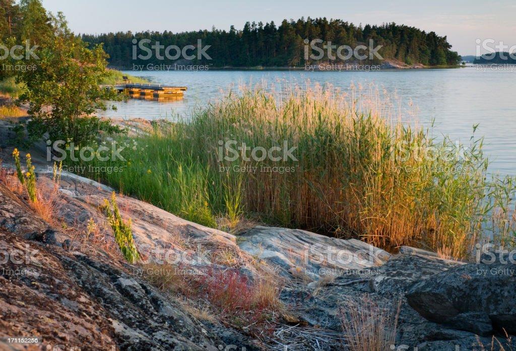 Finland Scandinavia Archipelago Sunset stock photo