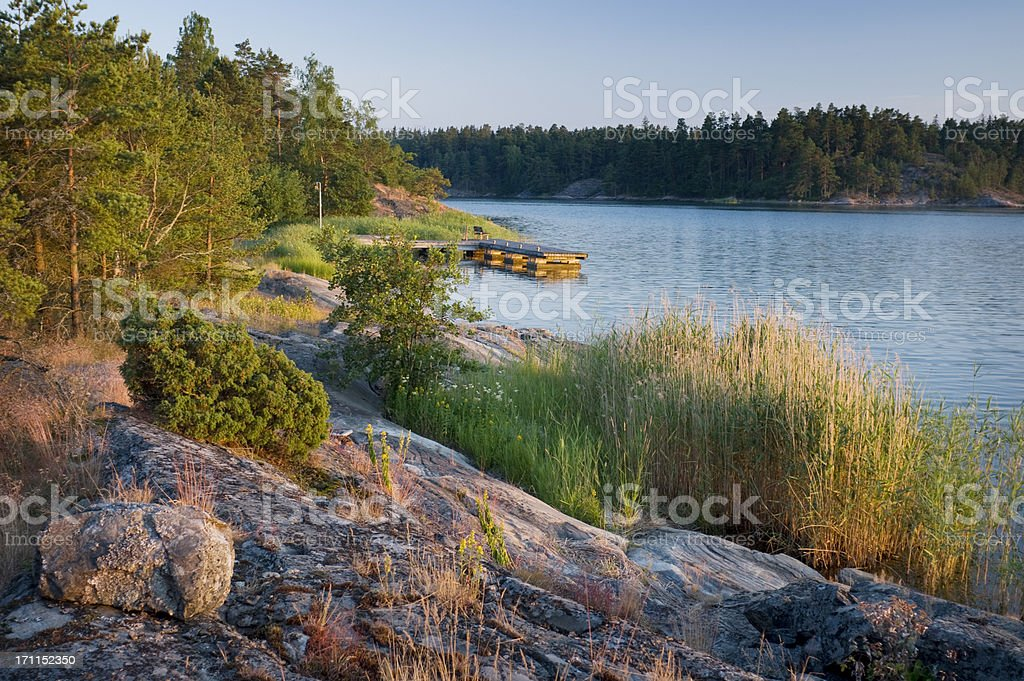 Finland Scandinavia Archipelago Sunset royalty-free stock photo