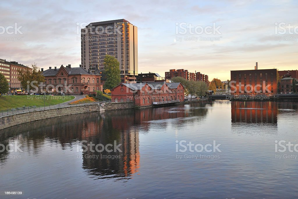 Finland. Tampere at sunset royalty-free stock photo
