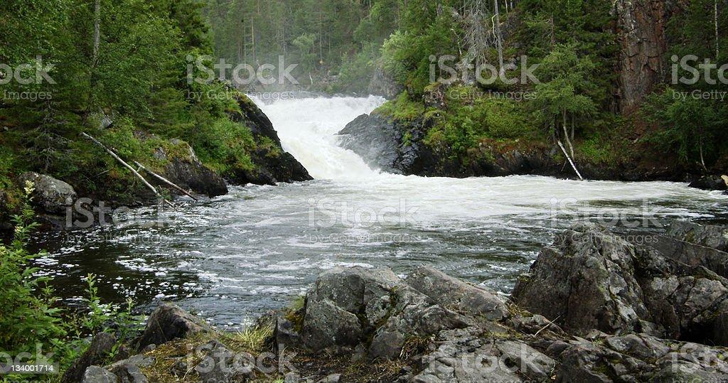 Finland Waterfall stock photo