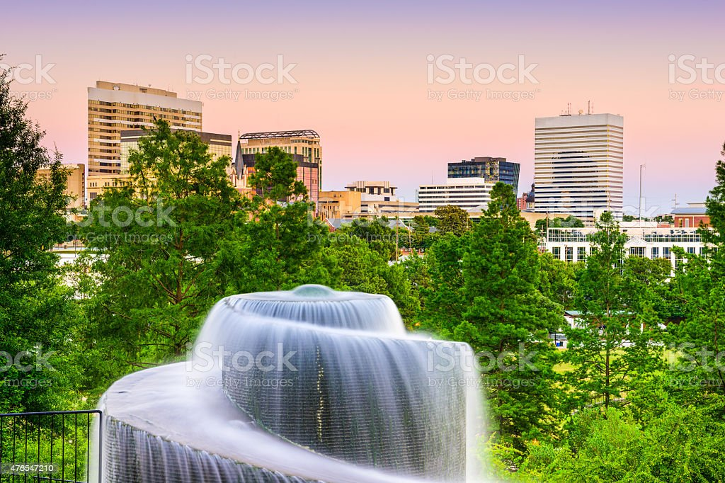 Finlay Park in Columbia, SC stock photo