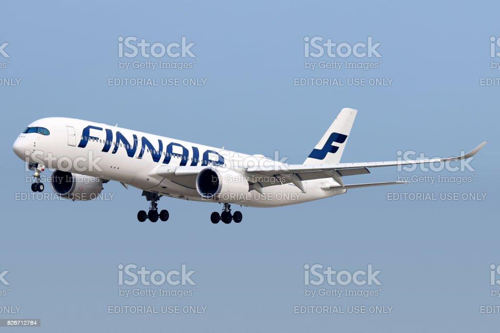 Finnair A350 aircraft stock photo