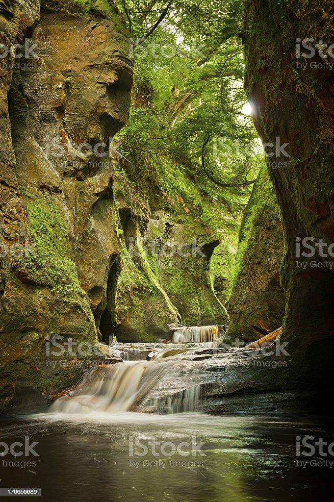 Finnich Glen Scotland royalty-free stock photo