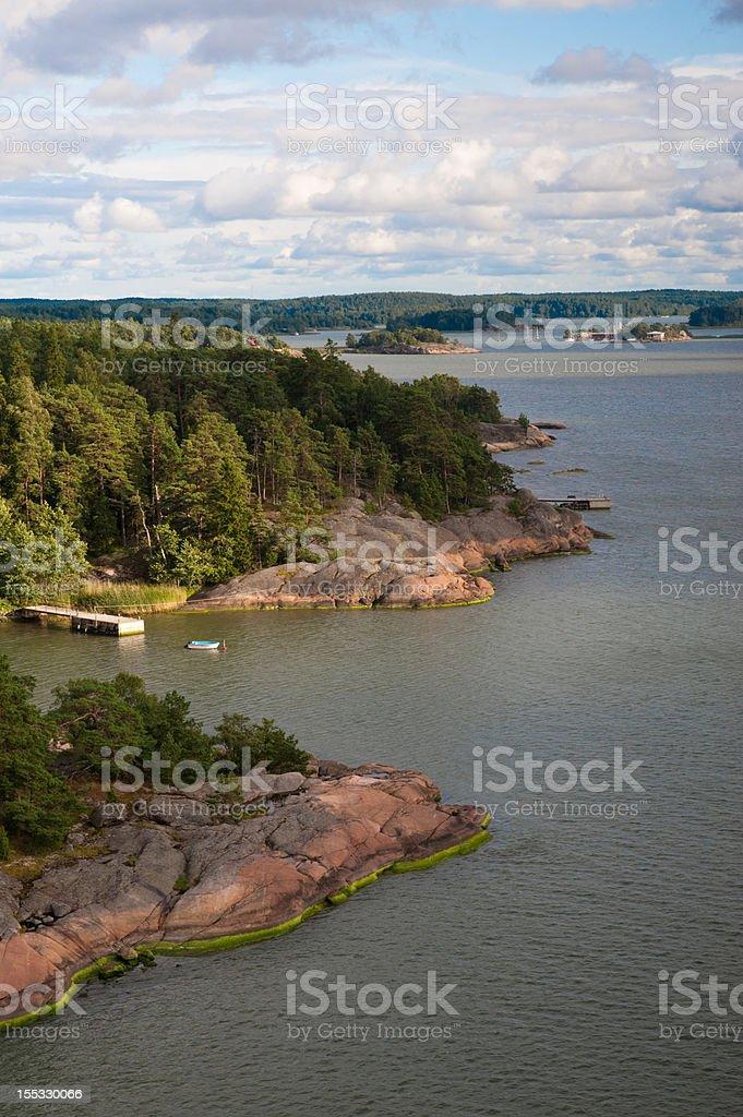 Finnish archipelago stock photo