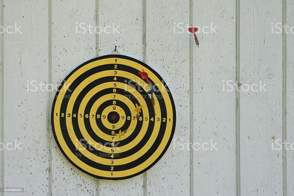 Finnish dartboard stock photo