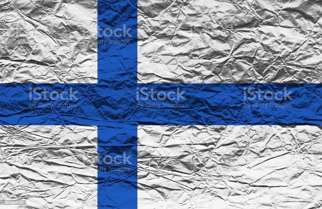 Finnish flag royalty-free stock photo